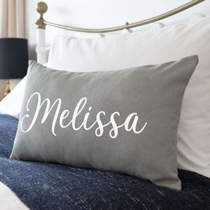 Personalised Name On Cushion - bedroom