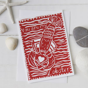 'You Are My Lobster' Card