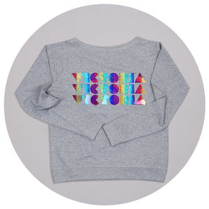 Personalised Rainbow Slouch Jumper
