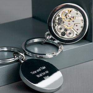 Personalised Vintage Watch Movement Keyring