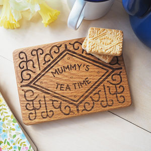 Giant Personalised Custard Cream Coaster