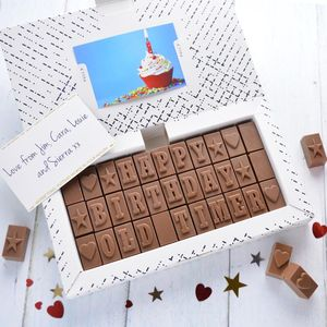 Chocolate 50th Birthday Card