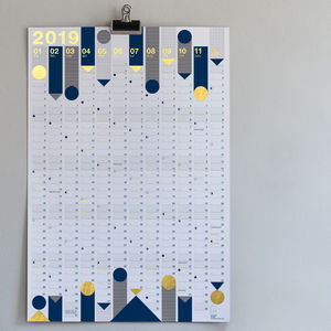 *New* 2019 Year Planner : Metallic Gold Foil - 2018/2019 calendars & planners