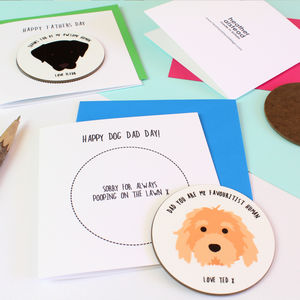 Personalised Dog Card And Coaster