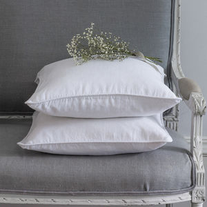 White Linen Cushion - cushions
