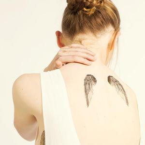 Wings Temporary Tattoo