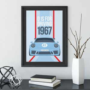 Personalised Classic Car Poster