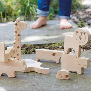 Wooden Jungle Puzzle And Stacking Set - traditional toys & games