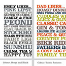 Likes Poster - Greys and Black - Rustic Autumn