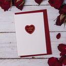 I Love You Heart Message Valentine's Card