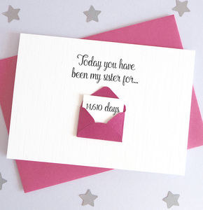 Personalised Brother/Sister Days Envelope Card