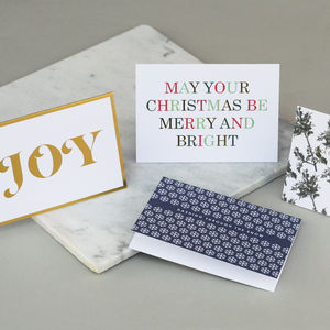 Luxury Mixed Christmas Card Pack Six