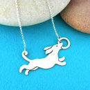 Sausage Dog Dachshund Sterling Silver Necklace