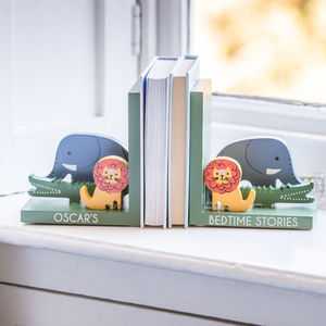 Personalised Animal Wooden Bookends - bookends