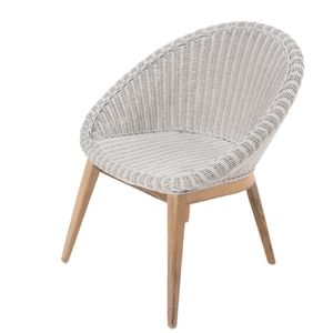 White Woven Tub Chair - furniture