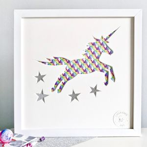 Unicorn Cut Out Bedroom Picture