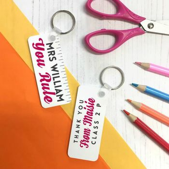 Personalised 'You Rule' Teacher Keyring