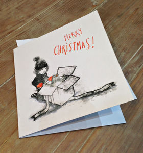 It's A Penguin! Monoprinted Christmas Card