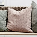 Rose Dust Velvet Scatter Cushion