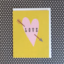 Love And Arrow Mini Greetings Card