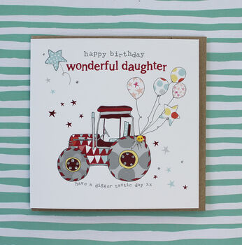 Daughter Tractor Card