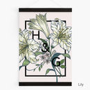 Personalised Couples Initials Floral Botanical Print