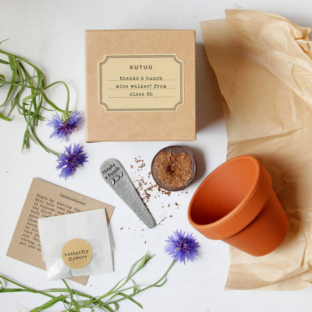 Personalised 'Thanks A Bunch' Plant Set