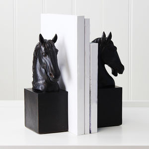 Horse Head Bookends - bookends