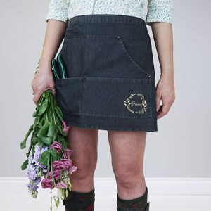 Personalised Denim Gardening Apron - whatsnew