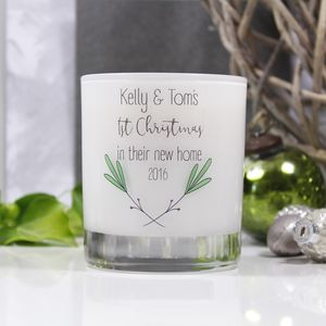 '1st Christmas In Their New Home' Scented Glass Candle - home accessories