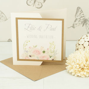 Charlotte Pocketfold Wedding Invitation - invitations