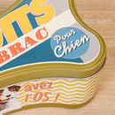 Personalised Retro Dog Treat Tin