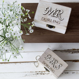 Personalised Mr And Mrs Wedding Ring Boxes - keepsake boxes