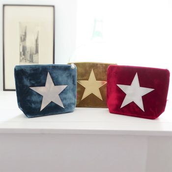 Personalised Velvet Star Cosmetic Bag