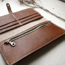 Leather Zip Bifold Purse Inside Personalisation