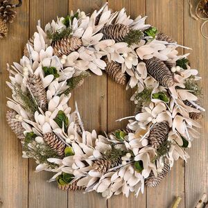 Winter Snowdrops Large Christmas Door Wreath
