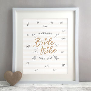 Bride Tribe Personalised Hen Party Guest Book Print - personalised