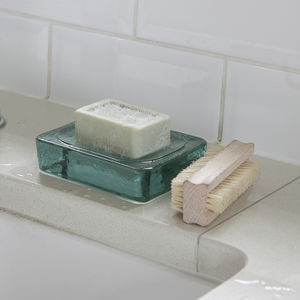 Recycled Glass Soap Dish - soap dishes & dispensers