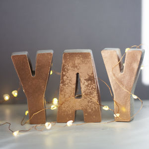 Personalised Copper Front Concrete Letters - more