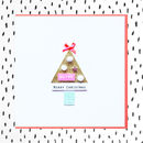 Personalised Merry Christmas Tree Card