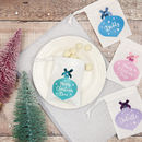 Personalised Christmas Bauble Gift Bag