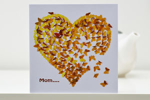 Mom Butterfly Heart Of Gold Card