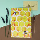 Honeybee Print A5 Notebook