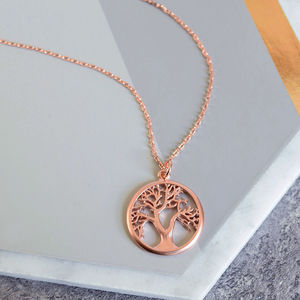 Rose Gold Tree Of Life Necklace - new in jewellery