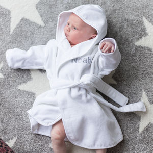 New Born Baby Dressing Gown And Slipper Set