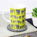 Elephant Family Fine Bone China Mug