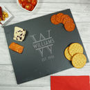 Personalised Monogrammed Family Slate Cheese Board