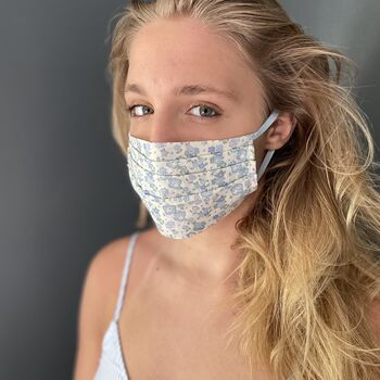Liberty Print Face Mask With Super Soft Elastic