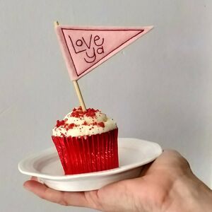 Mini Embroidered Love Pennant Flag