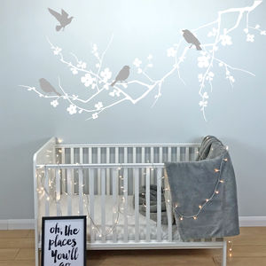 Birds On Branch Wall Stickers - home accessories